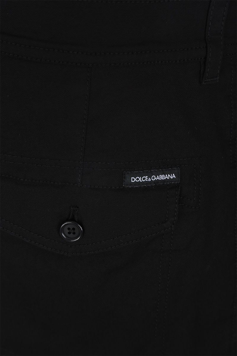 DOLCE & GABBANA: gabardine cargo pants Color Black_4
