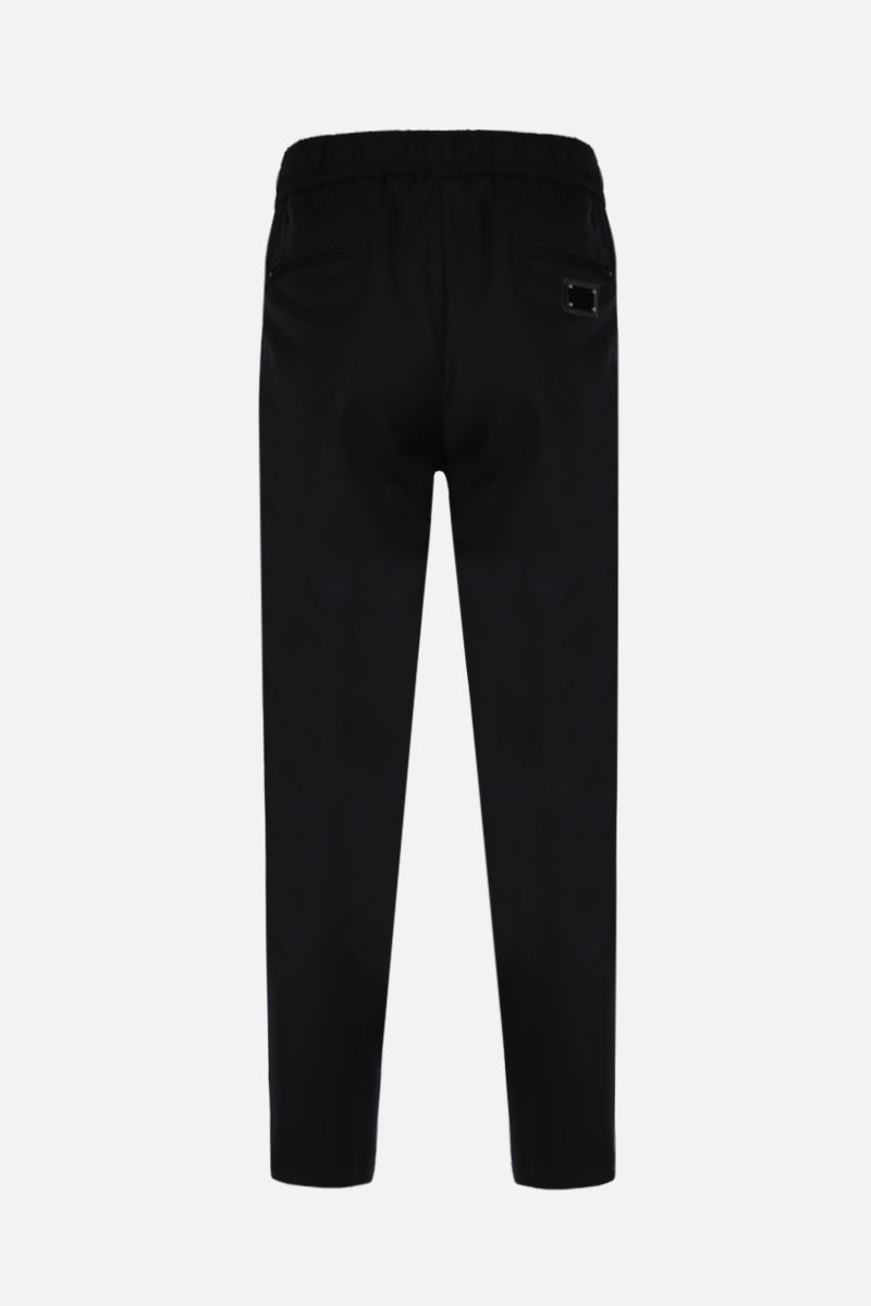 DOLCE & GABBANA: logo-detailed wool joggers Color Black_2