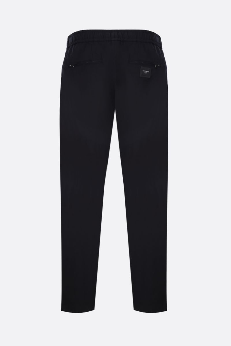 DOLCE & GABBANA: stretch cotton joggers Color Blue_2