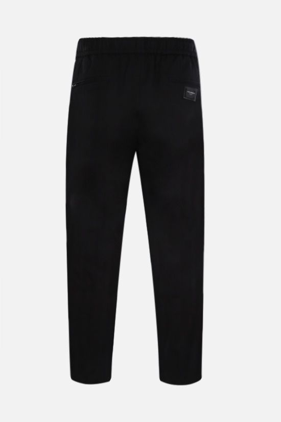 DOLCE & GABBANA: stretch cotton joggers Color Black_2
