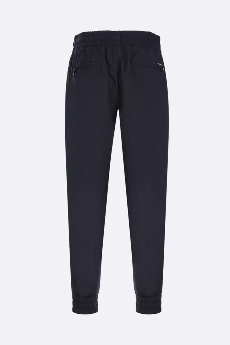 DOLCE & GABBANA: wool and silk blend joggers Color Black_2
