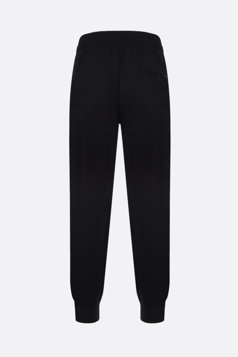 DOLCE & GABBANA: logo patch cotton joggers Color Black_2