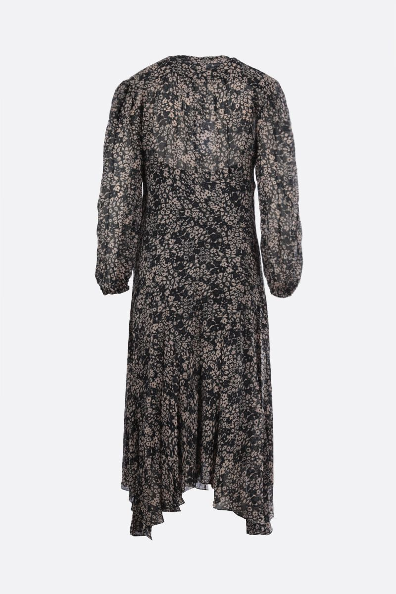 ISABEL MARANT ETOILE: Lizete georgette midi dress Color Black_2