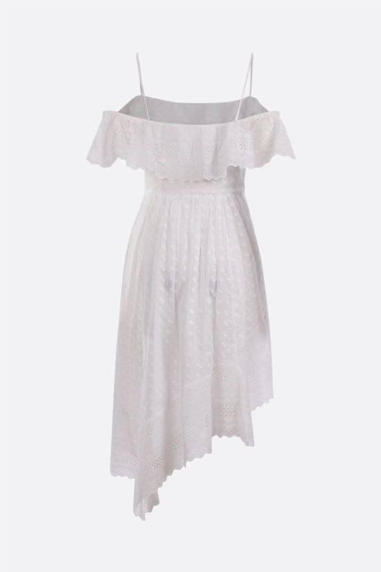 ISABEL MARANT ETOILE: Timoria asymmetric broderie anglaise dress Color White_2