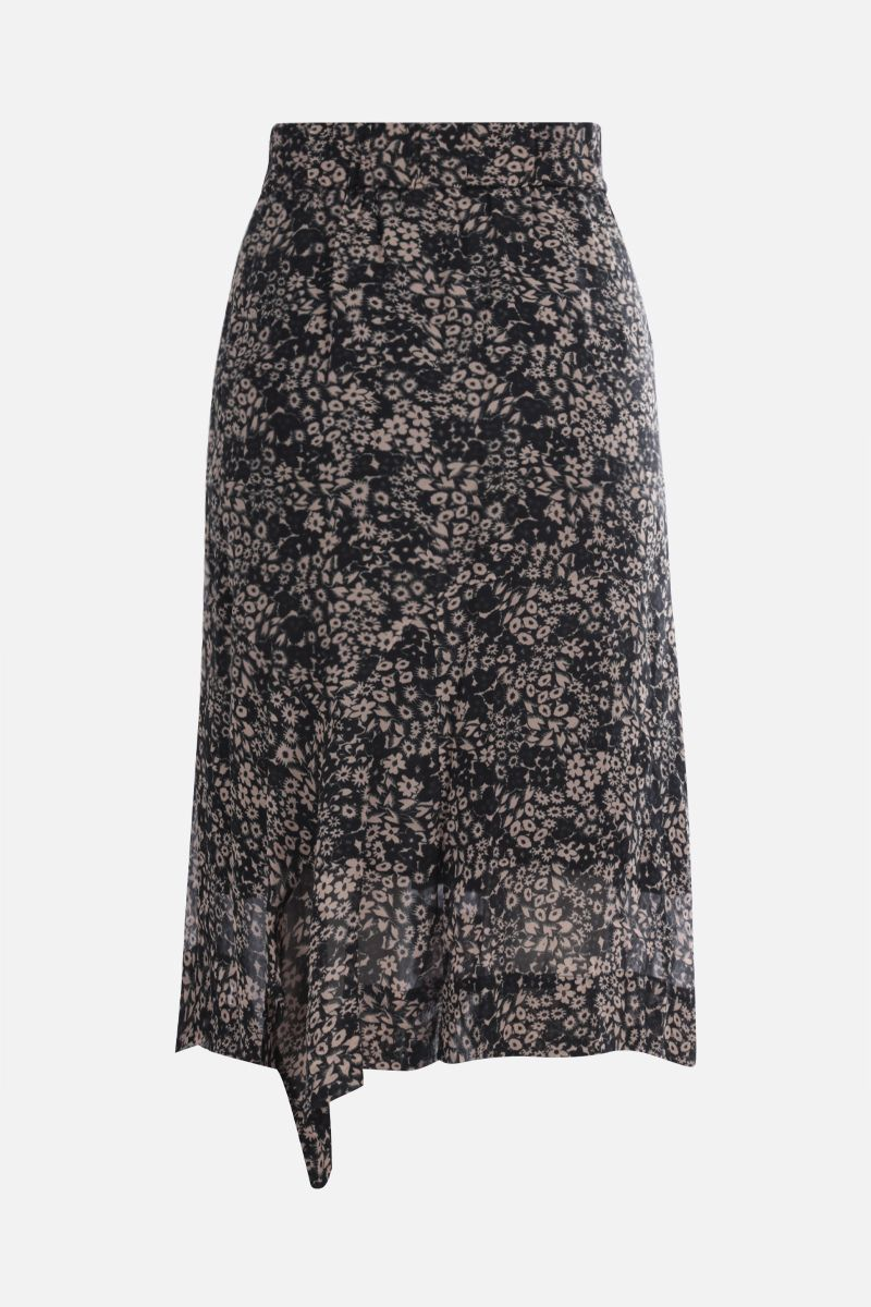ISABEL MARANT ETOILE: Eda georgette asymmetric skirt Color Black_2