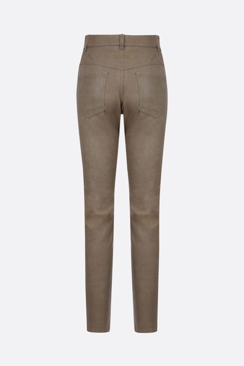 ISABEL MARANT ETOILE: Taro nappa skinny pants Color Neutral_2