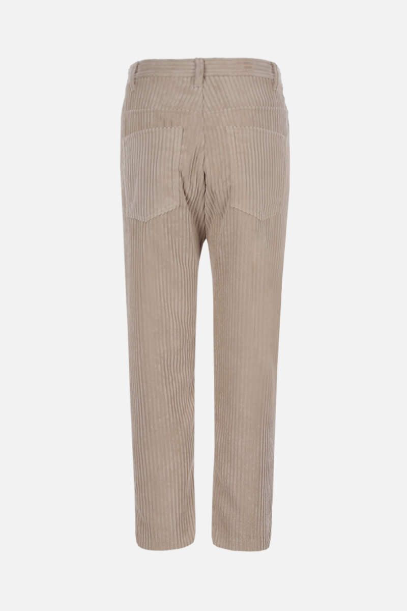 ISABEL MARANT ETOILE: Beldenae ribbed velvet cropped pants Color Neutral_2