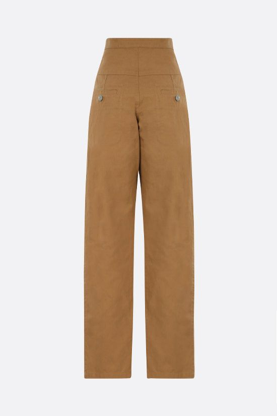 ISABEL MARANT ETOILE: Phil cotton linen blend cargo pants Color Brown_2