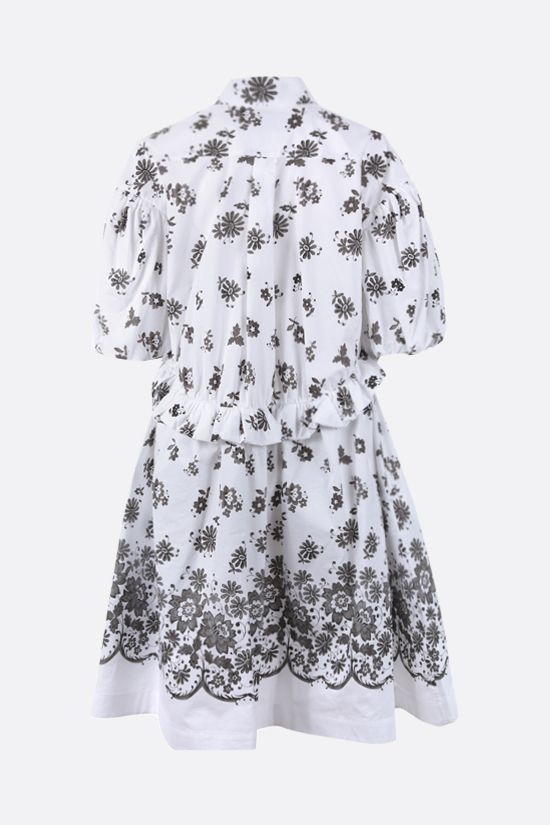 SIMONE ROCHA: floral print cotton shirt dress Color Grey_2