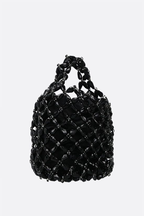 SIMONE ROCHA: borsa shopping small in resina con cristalli Colore Nero_2