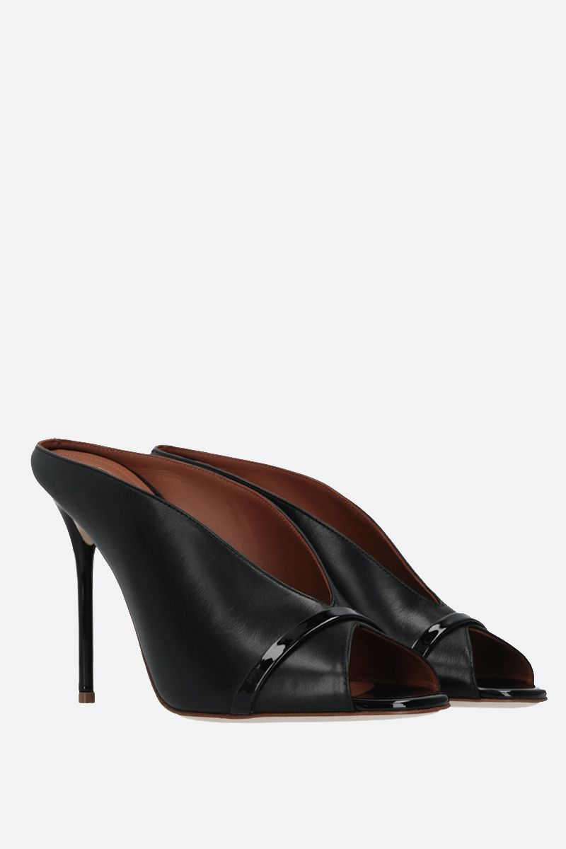 MALONE SOULIERS: Charlize soft nappa mules Color Black_2