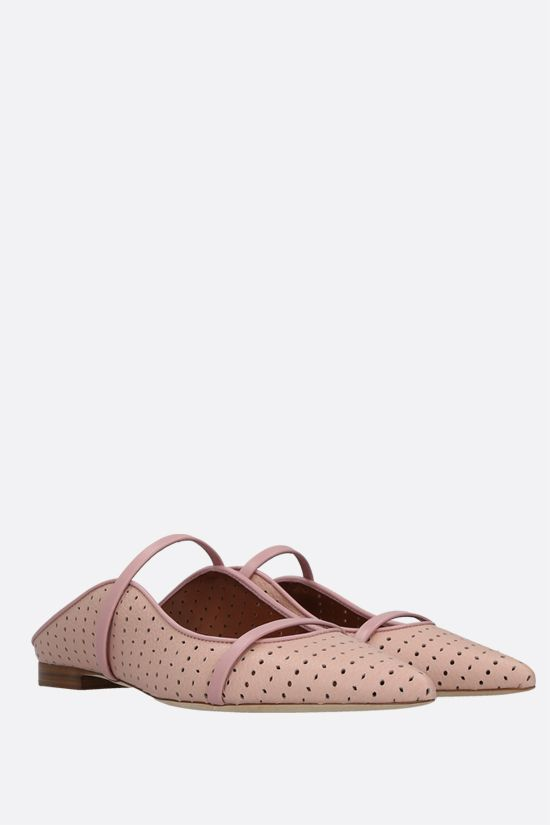 MALONE SOULIERS: slipper Maureen in pelle laserata Colore Rosa_2