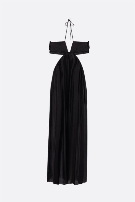 ALEXANDRE VAUTHIER: bow-detailed silk jumpsuit Color Black_1