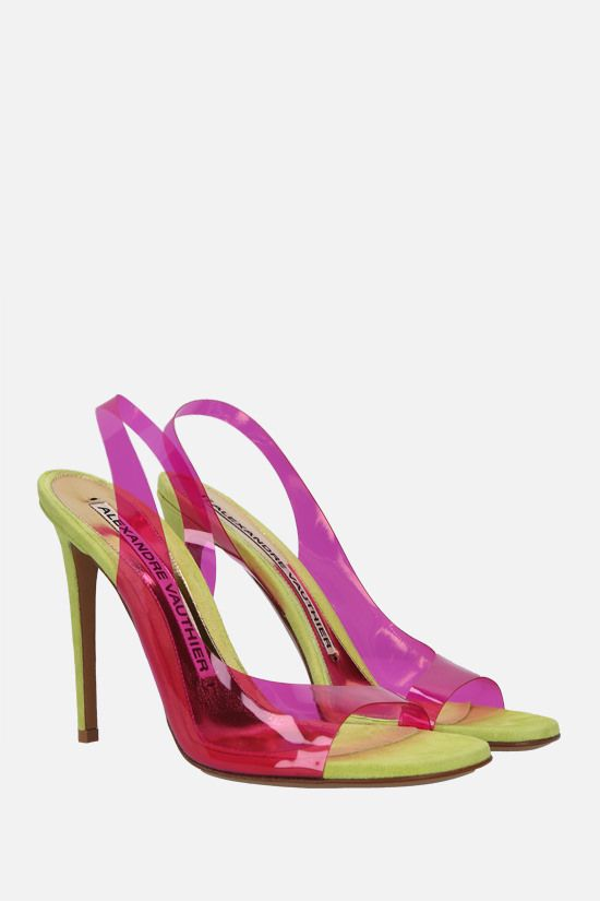 ALEXANDRE VAUTHIER: Amber Ghost transparent PVC sandals Color Purple_2
