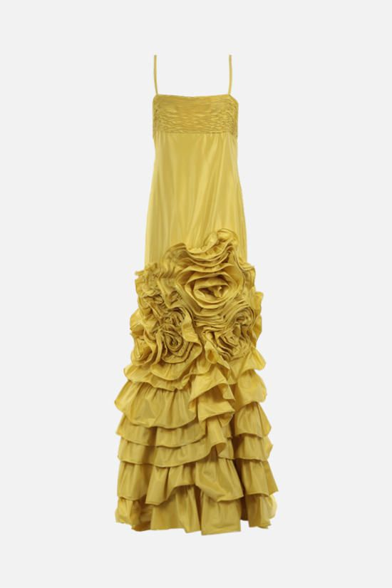 VALENTINO: silk taffeta gown Color Yellow_1