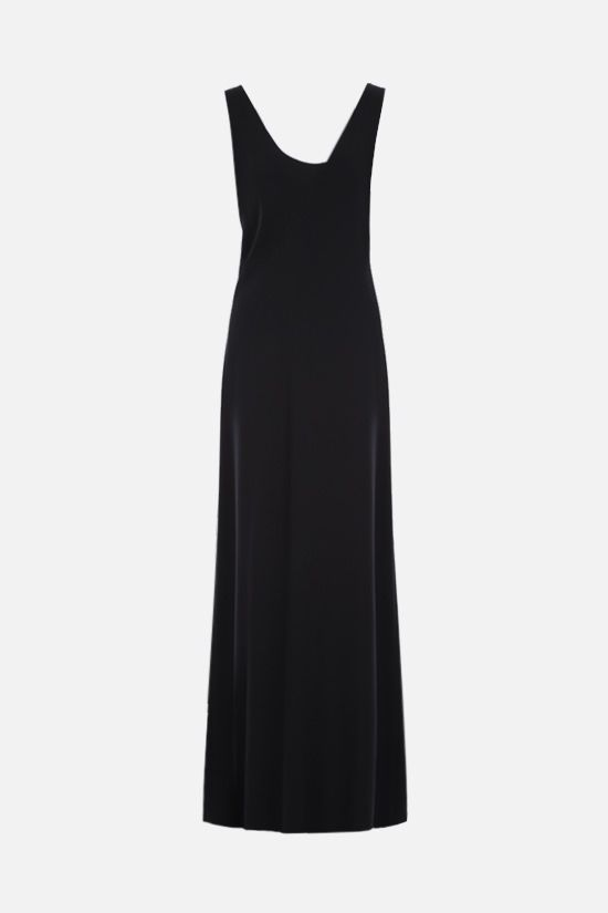 THE ROW: silk crepe gown evening gown Color Black_1