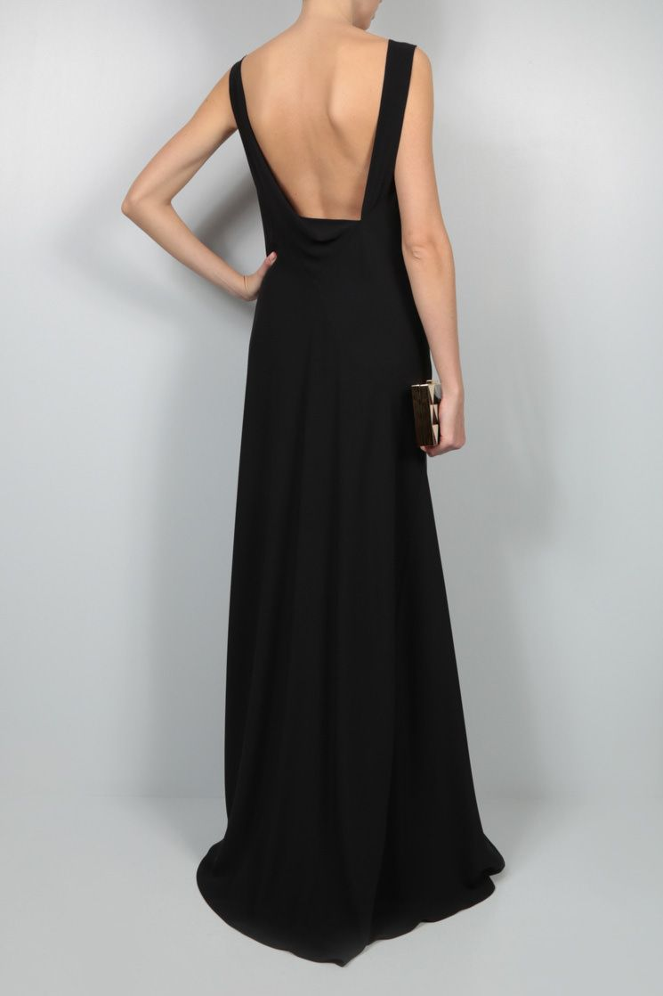 THE ROW: silk crepe gown evening gown Color Black_2