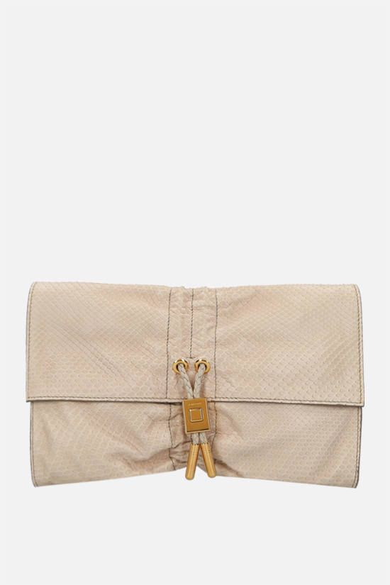 TOM FORD: python leather clutch Color Neutral_1