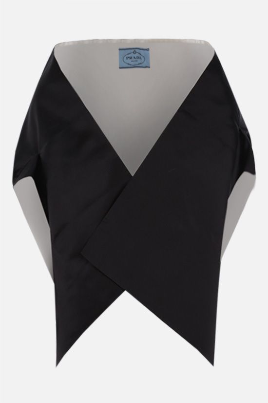 PRADA: silk satin stole Color Black_1