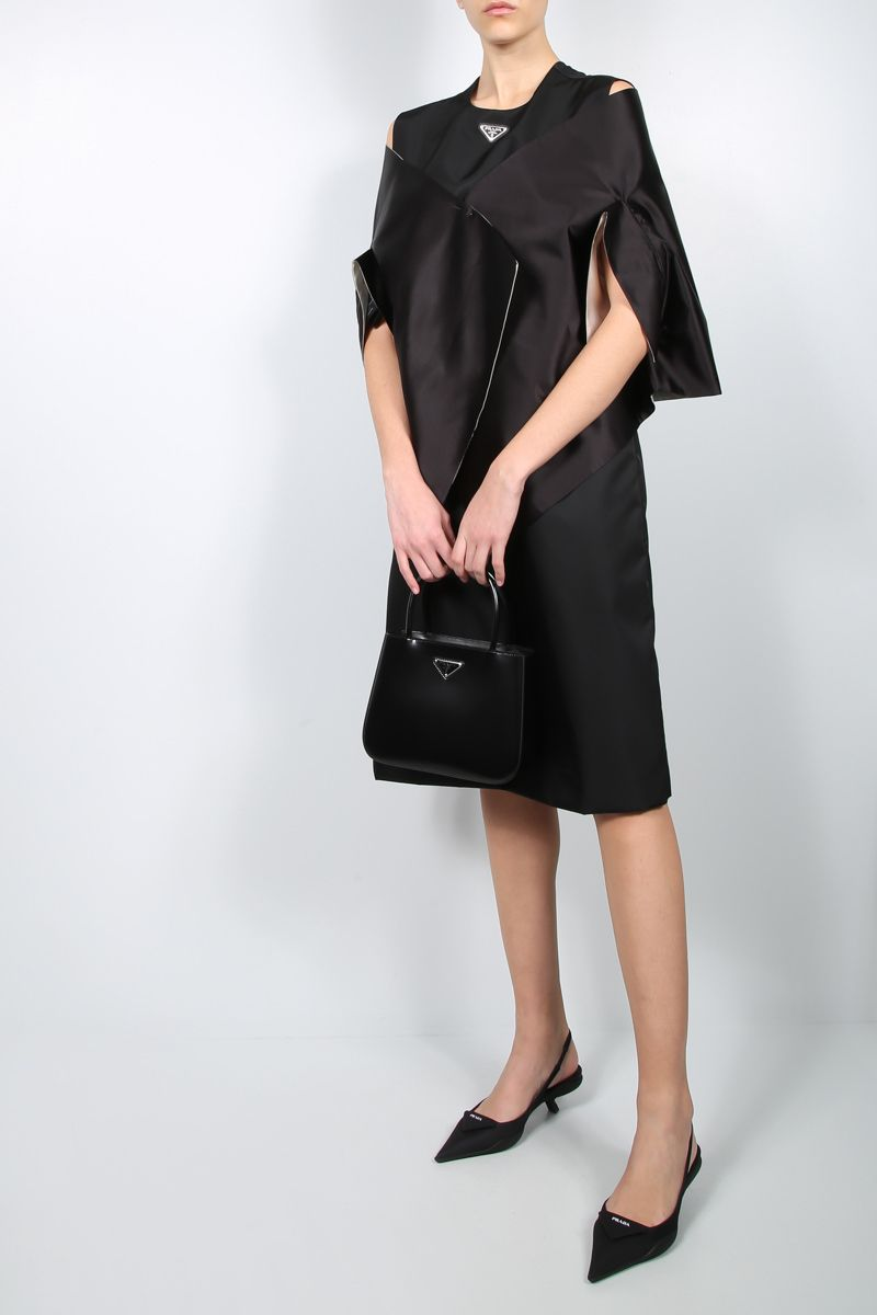 PRADA: silk satin stole Color Black_2