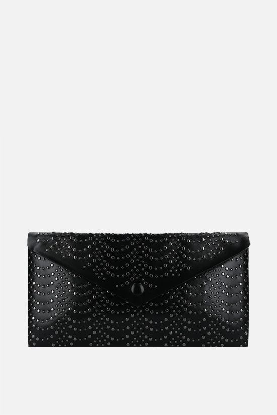 ALAIA: studded leather envelope clutch Color Black_1