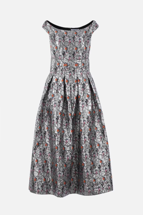 DIOR: lurex jacquard long dress Color Grey_1