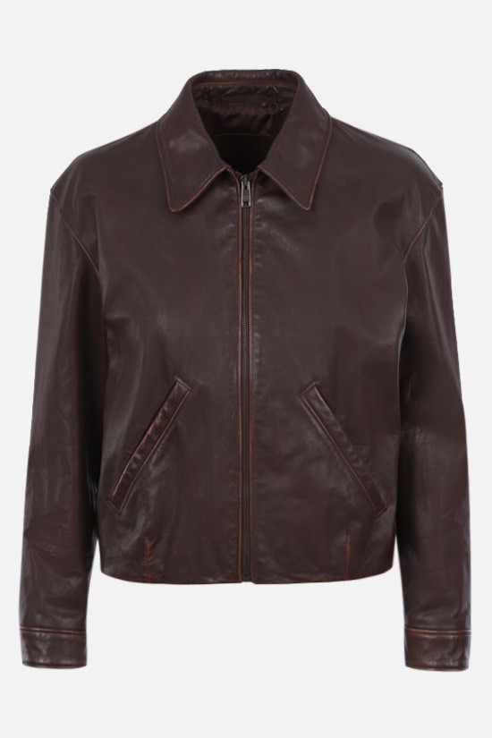 PRADA: vintage leather jacket Color Neutral_1