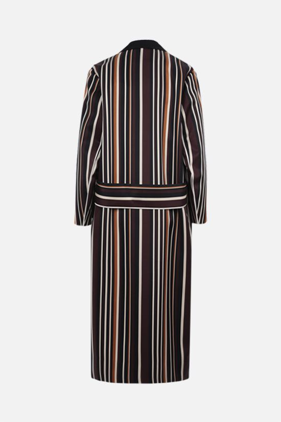 PRADA: striped radzmire overcoat Color Multicolor_2