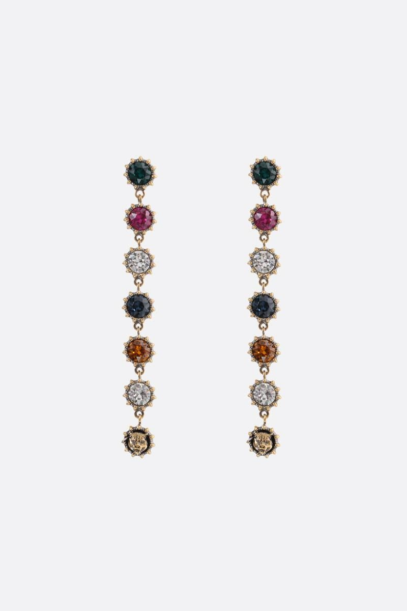 GUCCI: pendant earrings with crystals Color Gold_1