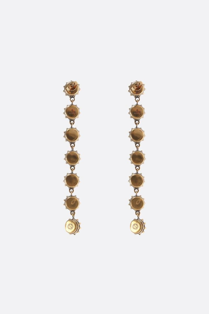 GUCCI: pendant earrings with crystals Color Gold_2