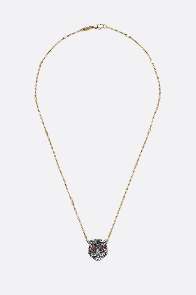 GUCCI: Le Marchè des Merveilles gold necklace with rubies and diamonds Color Gold_1