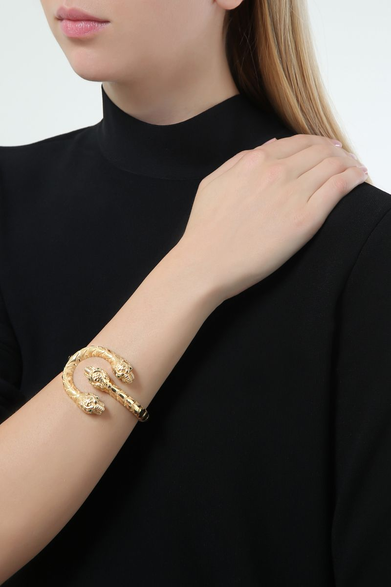 GUCCI: Dionysus yellow gold bracelet Color Gold_2