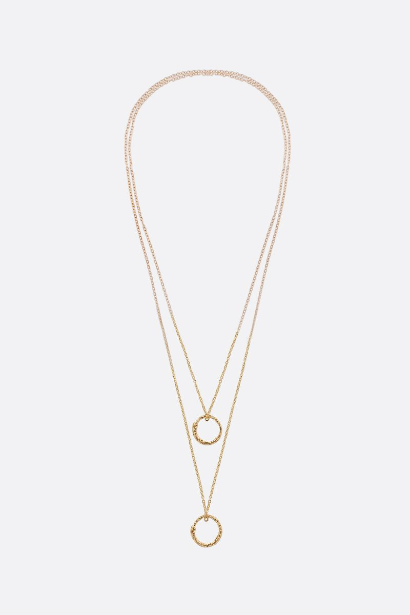 GUCCI: yellow gold necklace with Ouroboros charms Color Gold_1