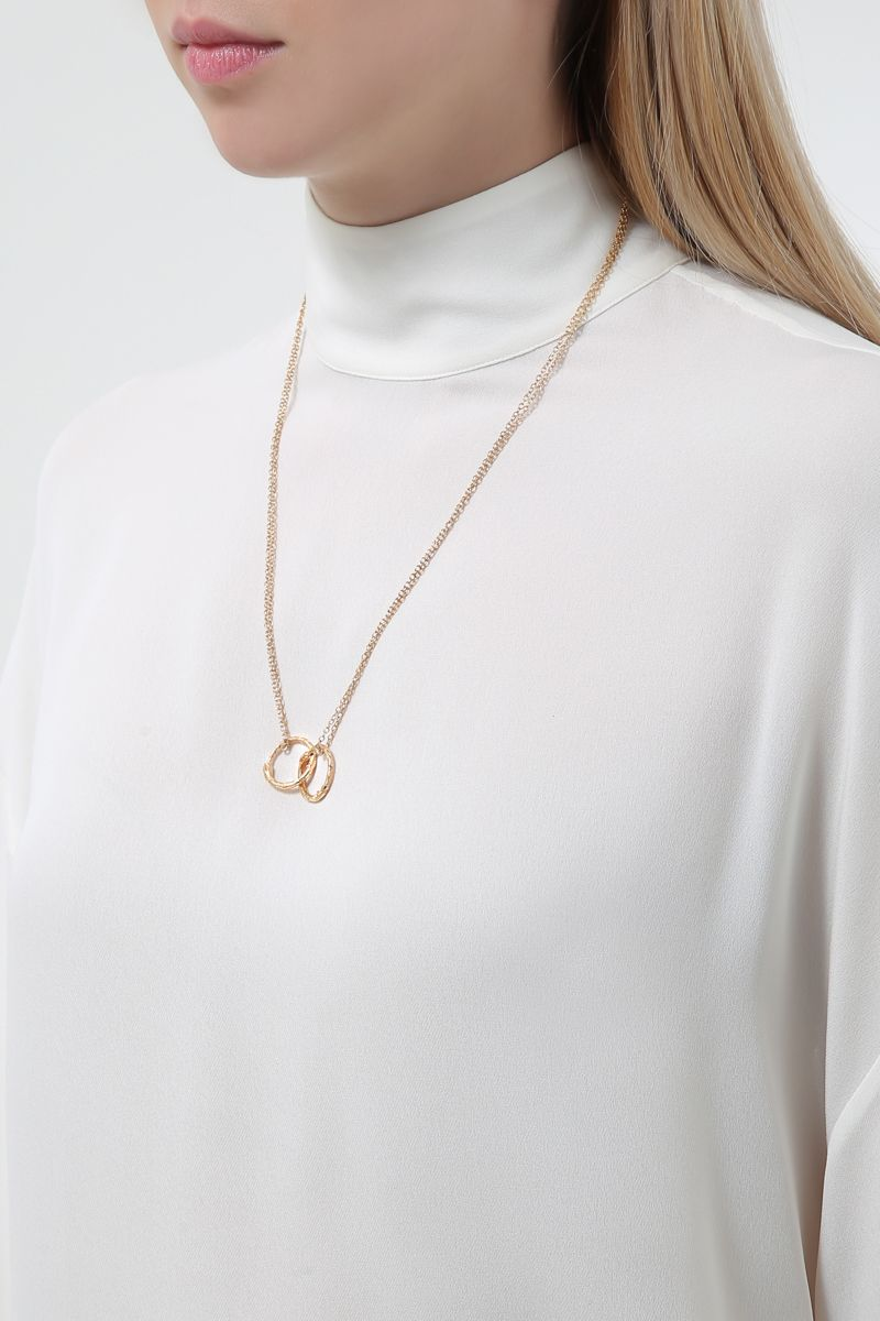 GUCCI: yellow gold necklace with Ouroboros charms Color Gold_2