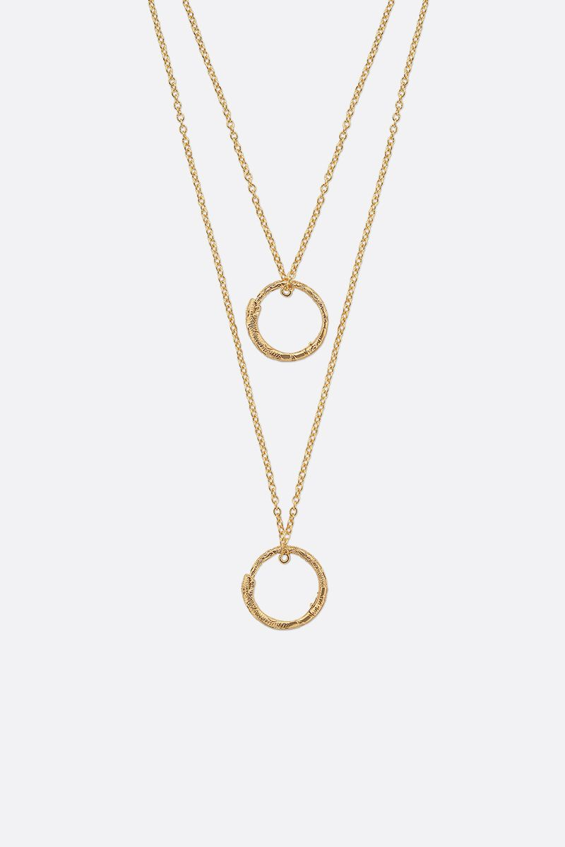 GUCCI: yellow gold necklace with Ouroboros charms Color Gold_3