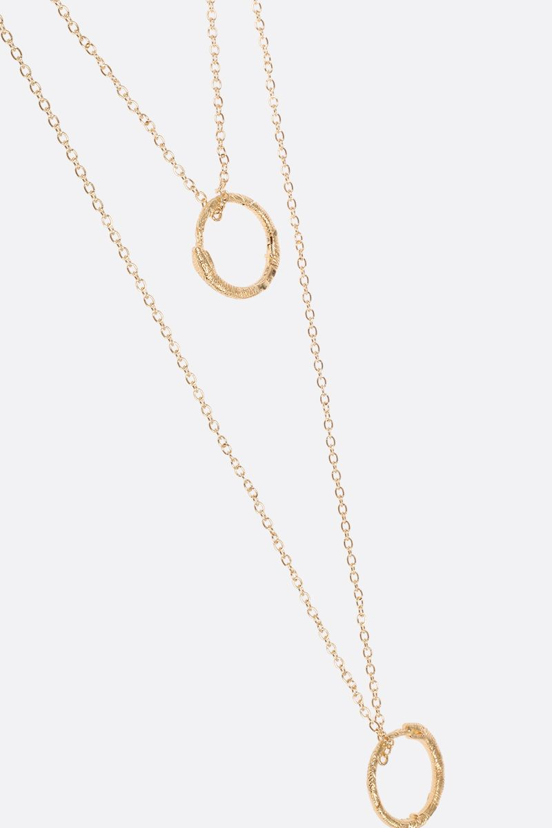 GUCCI: yellow gold necklace with Ouroboros charms Color Gold_4