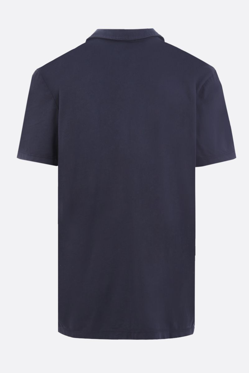 JAMES PERSE: polo in jersey di cotone Colore Blu_2