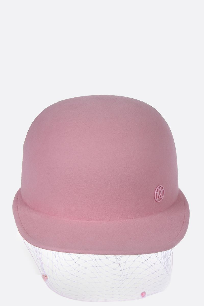 MAISON MICHEL: Shariff Veil waterproof rabbit furfelt cap_1