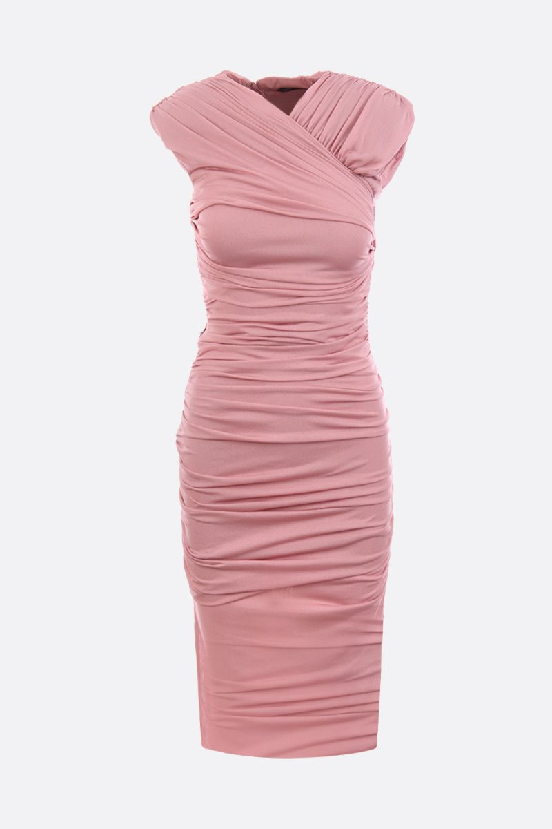 TOM FORD: draped jersey minidress Color Pink_1