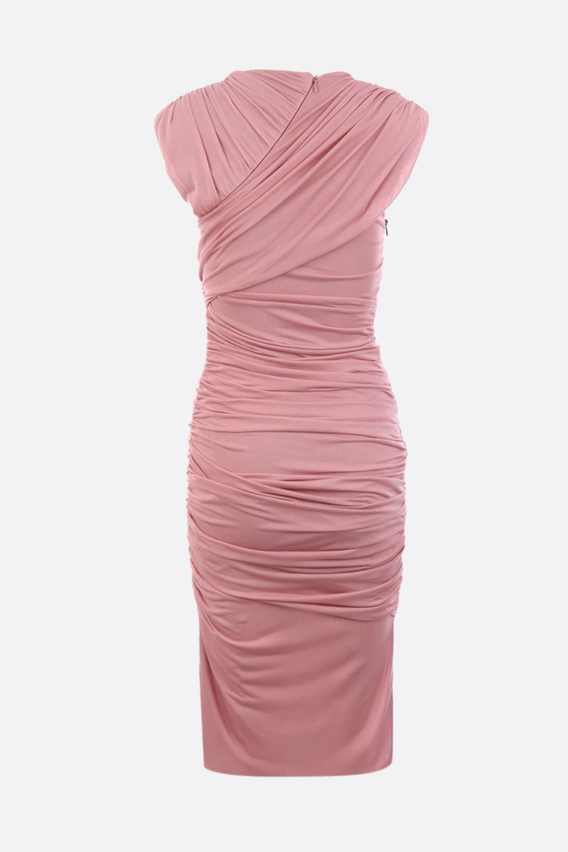 TOM FORD: draped jersey minidress Color Pink_3