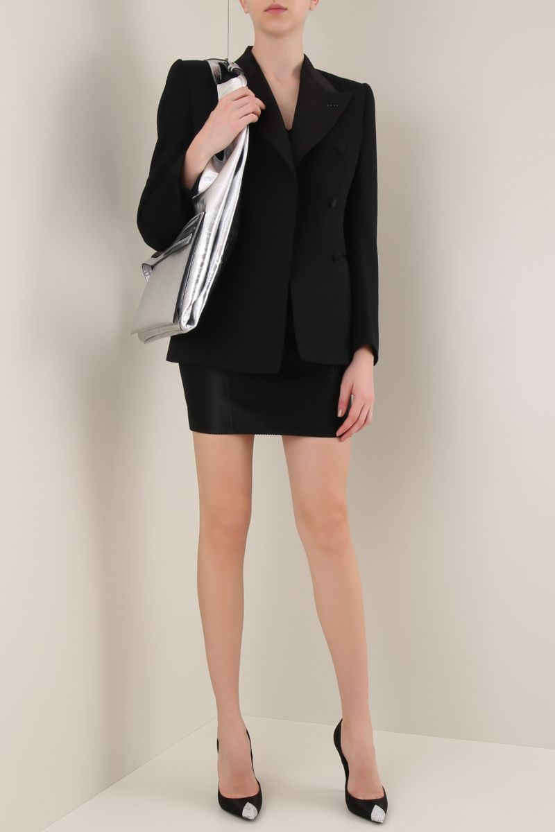 TOM FORD: lightweight wool double-breasted blazer Color Black_2