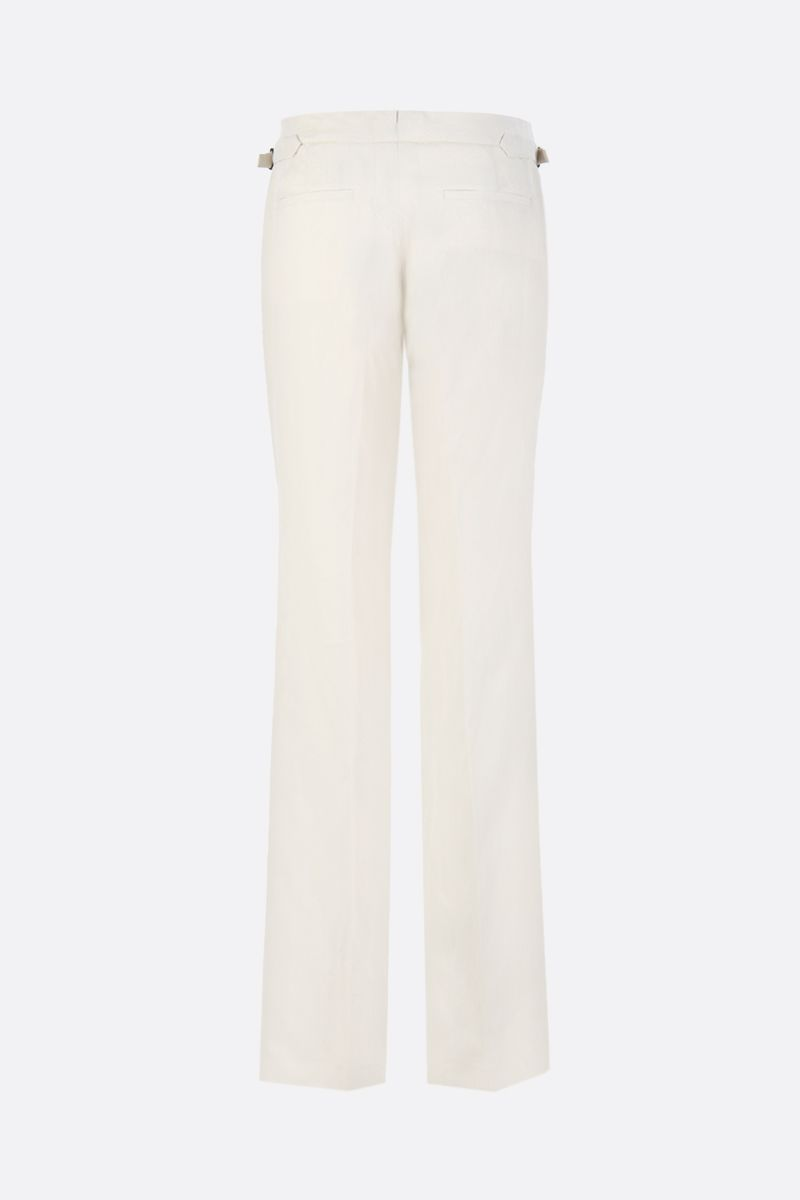 TOM FORD: linen blend straight fit pants Color Brown_2