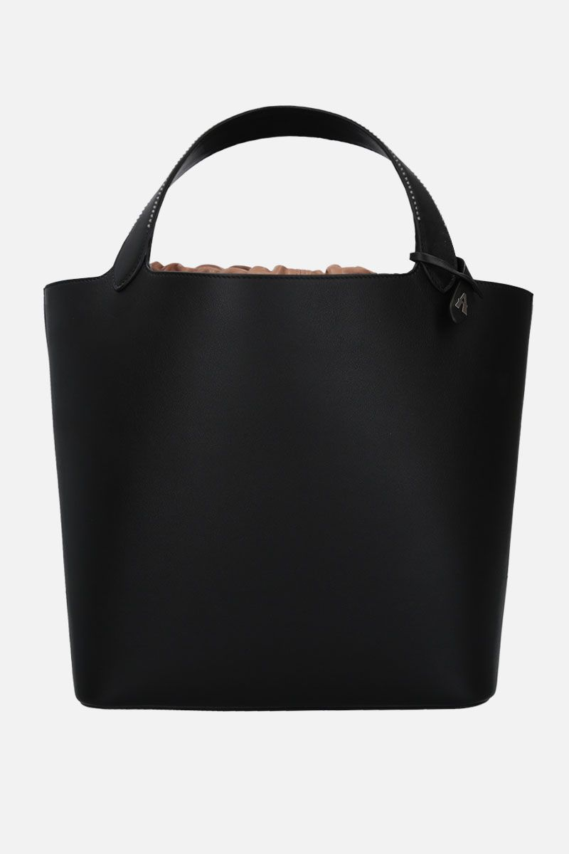 ALAIA: medium Hafida handbag in soft grainy leather Color Black_1