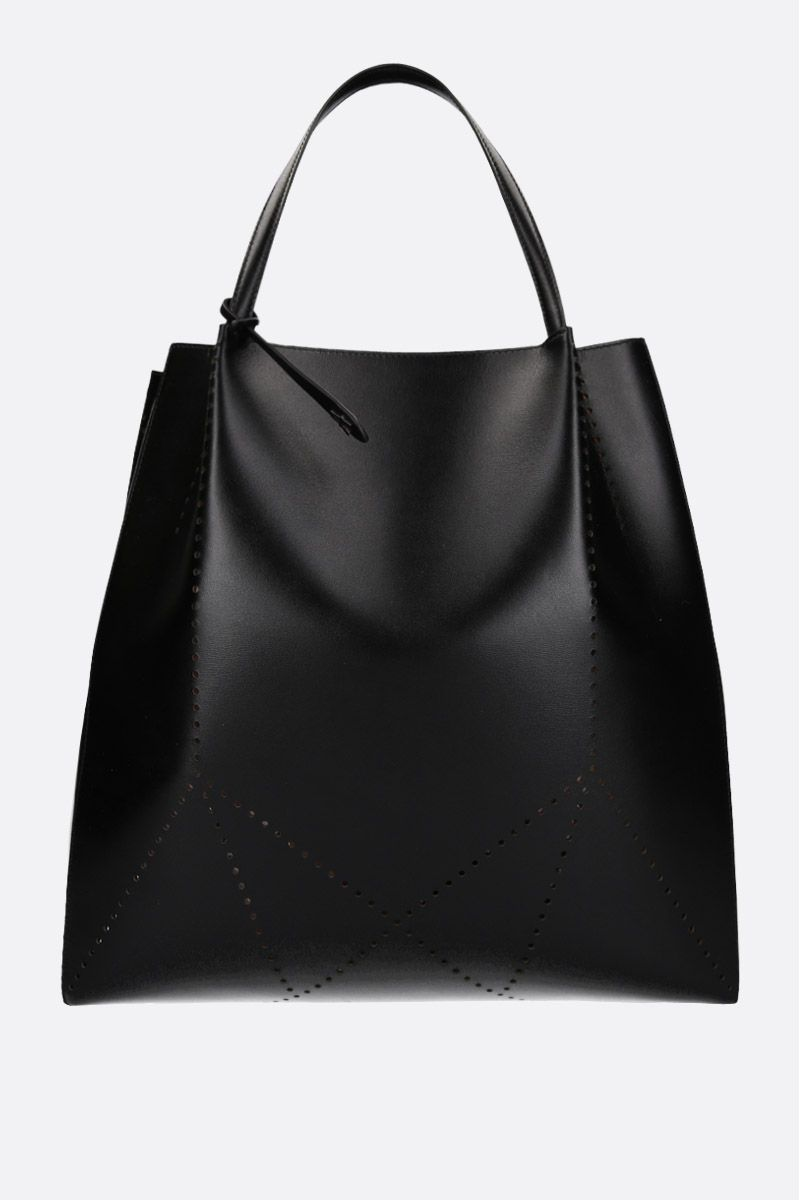 ALAIA: medium Marguerite leather bag Color Black_1