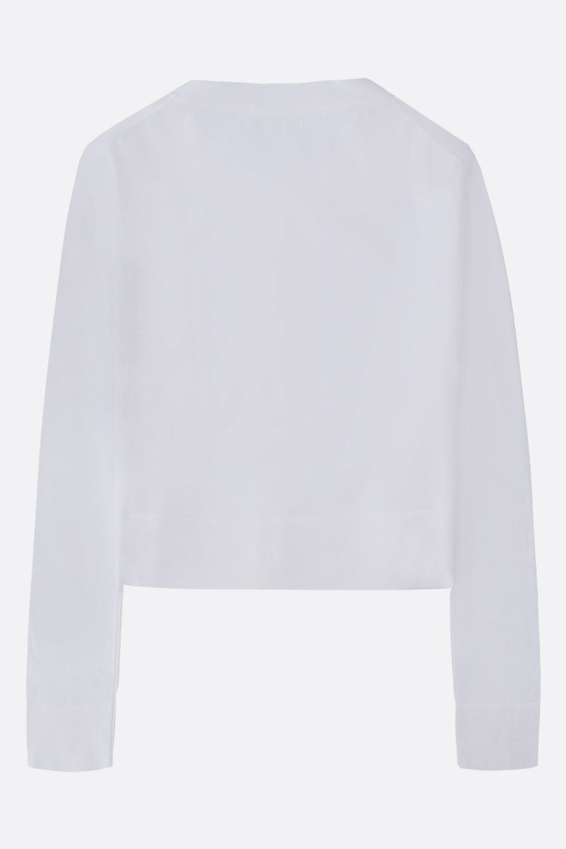 ALAIA: stretch knit cropped cardigan Color White_2