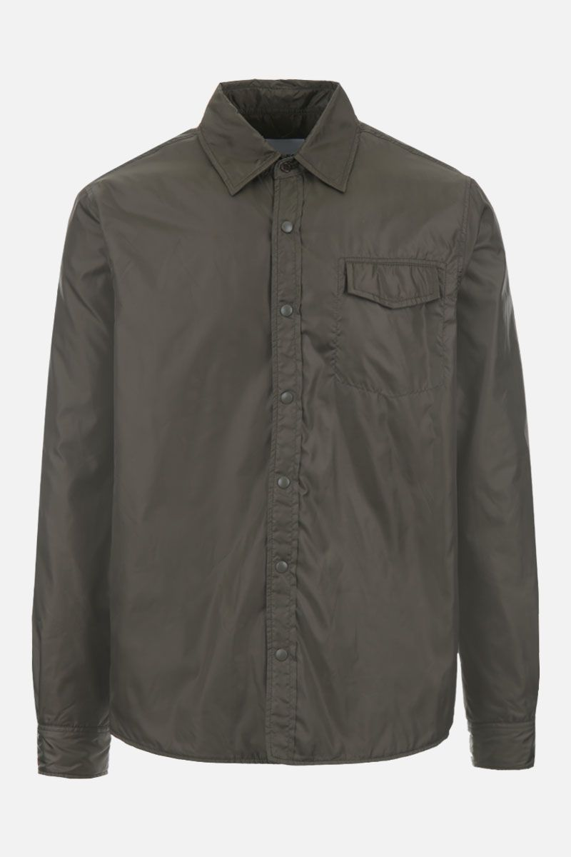 ASPESI: Marvin technical fabric padded shirt Color Green_1