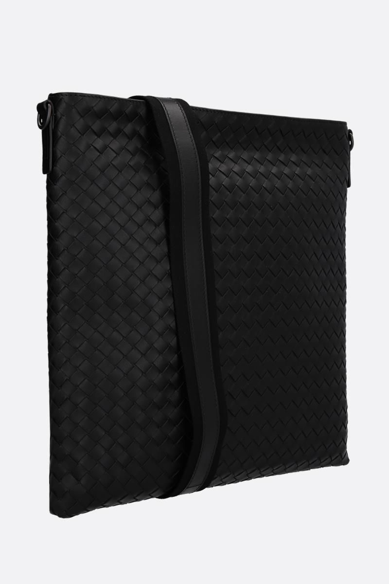 BOTTEGA VENETA: large messenger bag in Intrecciato Color Black_2
