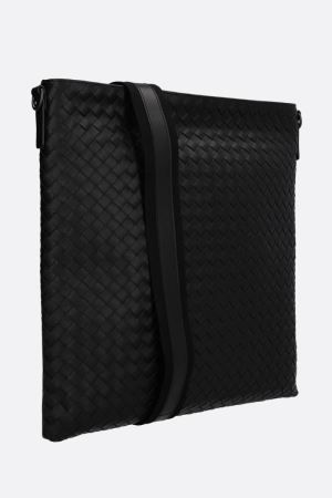 BOTTEGA VENETA: large messenger bag in Intrecciato Color Black_6