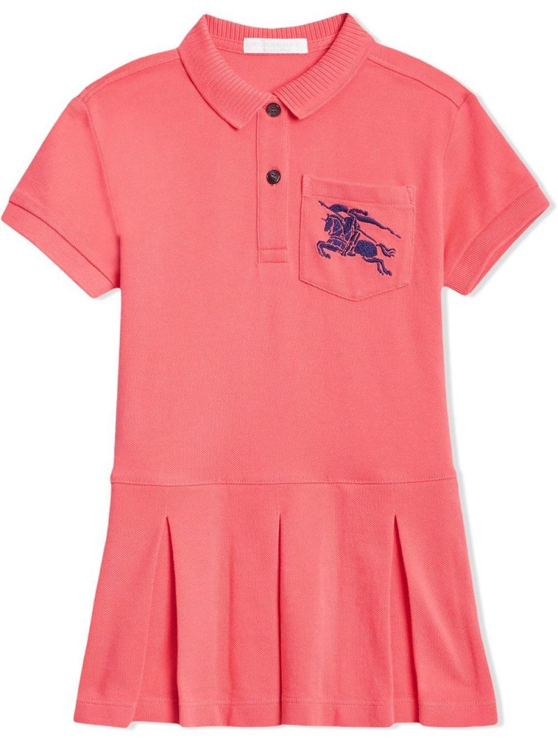 BURBERRY CHILDREN: cotton piquet polo dress Color Pink_1