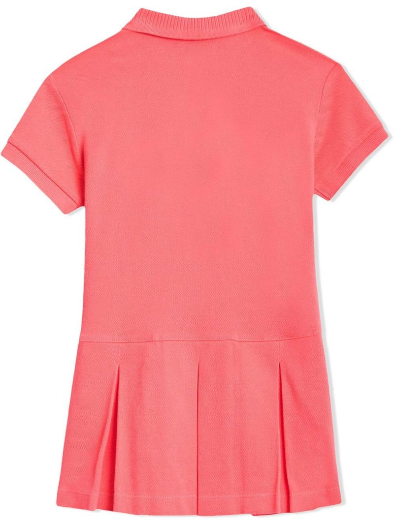 BURBERRY CHILDREN: cotton piquet polo dress Color Pink_2